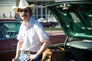 "Hard-partying, homophobic rodeo cowboy Ron Woodroof (Matthew McConaughey) receives the shock of his life when he's diagnosed with AIDS in director Jean-Marc Vallée's engaging, fact-based drama, ""Dallas Buyers Club."" Photo by Anne Marie Fox, courtesy of Focus Features."