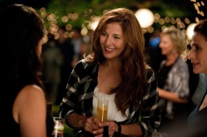 "New Age poet Marianne (Catherine Keener, center) provides masseuse Eva (Julia Louis-Dreyfus, left, back to camera) with massage business and an unexpected wealth of information in director Nicole Holofcener's new romantic comedy, ""Enough Said."" Photo courtesy of Fox Searchlight Pictures."