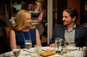 "The playful, but sometimes-nasty bickering of married couple Sarah (Toni Collette, left) and Will (Ben Falcone, right) provides an interesting running commentary on the nature of relationships in ""Enough Said."" Photo courtesy of Fox Searchlight Pictures."