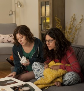 "Doting mother Eva (Julia Louis-Dreyfus, right) faces the impending empty nest stage of her life as her daughter, Ellen (Tracey Fairaway, left), prepares to leave for college in the new romantic comedy, ""Enough Said."" Photo courtesy of Fox Searchlight Pictures."