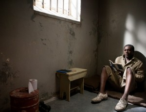 """A 27-year ordeal behind bars is one of the challenges faced by South African human rights activist Nelson Mandela (Idris Elba) in """"Mandela: Long Walk to Freedom."""" Photo by Keith Bernstein, courtesy of The Weinstein Co."""
