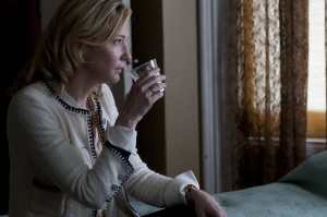 """After a hard fall, Jasmine (Cate Blanchett) seeks to put her life back together in writer-director Woody Allen's latest offering, """"Blue Jasmine,"""" now available on DVD and Blu-ray disk. Photo by Merrick Morton © 2013 Gravier Productions, courtesy of Sony Pictures Classics."""