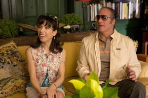 """A happily married couple, Ginger (Sally Hawkins, left) and Augie (Andrew Dice Clay, right), gets blindsided by the hardships of financial ruin in """"Blue Jasmine."""" Photo by Jessica Miglio © 2013 Gravier Productions, courtesy of Sony Pictures Classics."""