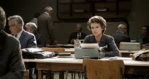 """In covering the trial of Nazi war criminal Adolf Eichmann, philosopher and political scientist Hannah Arendt (Barbara Sukowa) arrived at some controversial conclusions that resulted in a public uproar in director Margarethe von Trotta's """"Hannah Arendt."""" Photo courtesy of Zeitgeist Films."""