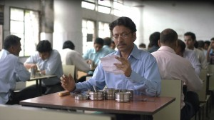 """Sajaan Fernandes (Irrfan Khan), a lonely office worker, receives an unexpected lunch delivery that helps lift his spirits in the charming new Indian comedy-drama, """"The Lunchbox."""" Photo by Michael Simmonds, courtesy of Sony Pictures Classics."""