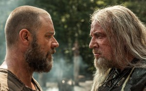 "To complete his task, Noah (Russell Crowe, left) must first overcome the obstacles posed by his nemesis, the evil Tubal-cain (Ray Winstone, right), in ""Noah."" Photo by Niko Tavernise, courtesy of Paramount Pictures and Regency Enterprises."