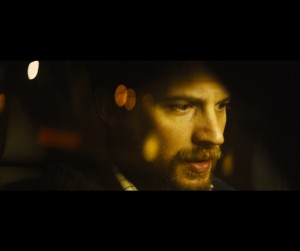 """With his world falling apart around him, Ivan Locke (Tom Hardy) must come to terms with the changing conditions of his life in director Steven Knight's """"Locke."""" Photo courtesy of A24 Films."""