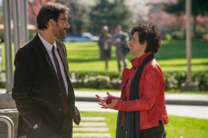 "A budding romance between academic rivals Jack Marcus (Clive Owen, left) and Dina Delsanto (Juliette Binoche, right) helps thaw relations between the playful sparring partners in the delightful romantic comedy, ""Words and Pictures."" Photo by Doane Gregory, courtesy of Roadside Attractions."