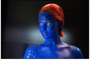 "Mystique (Jennifer Lawrence), a mutant seeking vengeance for atrocities committed against her peers, holds the key to earth's future in director Bryan Singer's ""X-Men: Days of Future Past."" Photo by Alan Markfield, courtesy of Twentieth Century Fox Film Corporation."
