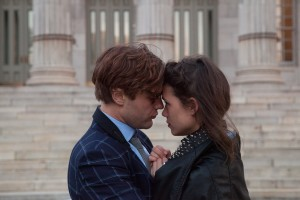"""Molecular biologist Dr. Ian Gray (Michael Pitt, left) is mysteriously drawn to cosmetics model Sofi (Astrid Bergès-Frisbey, right) in director Mike Cahill's engaging new feature, """"I Origins."""" Photo courtesy of Fox Searchlight Pictures."""
