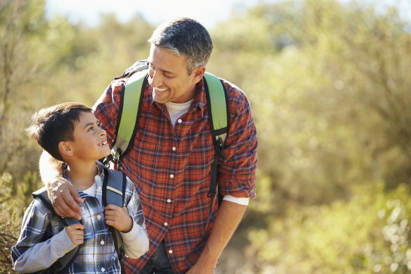 bigstock-Father-And-Son-Hiking-In-Count-61344524