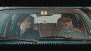 "Trapped in the memories of a failed romance from years earlier, aspiring actor Milo Dean (Bill Hader, left) seeks to reconcile his feelings toward an old flame, Rich (Ty Burrell, right), in ""The Skeleton Twins."" Photo courtesy of Roadside Attractions."