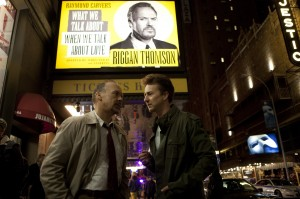 "When faced with needing to make a last-minute replacement for one of his performers for his new play, writer-director-actor Riggan Thomson (Michael Keaton, left) taps the services of Mike Shiner (Edward Norton, right), one of the hottest names on Broadway, in director Alejandro González Iñárritu's latest offering, ""Birdman or (The Unexpected Virtue of Ignorance)."" Photo courtesy of Fox Searchlight Pictures."