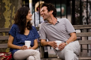 "An unexpected visit from Martine, an old flame (Audrey Tautou, left), prompts novelist Xavier Rousseau (Romain Duris, right) to contemplate the future of their relationship in the independent comedy, ""Chinese Puzzle,"" the third film in a trilogy from director Cédric Klapisch. Photo courtesy of Cohen Media Group."