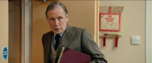 """Cliff (Bill Nighy), recording secretary for the Onllwyn miners' lodge, wins over some unlikely supporters for his labor organization's cause in """"Pride."""" Photo courtesy of CBS Films."""