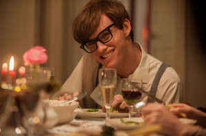 "With the effects of motor neurone disease gradually taking their toll, cosmology student Stephen Hawking (Eddie Redmayne) faces an uncertain future in ""The Theory of Everything."" Photo by Liam Daniel, courtesy of Focus Features."