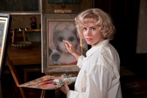 """Margaret Keane (Amy Adams) seeks recognition for her distinctive style of portrait painting in director Tim Burton's new comedic biopic, """"Big Eyes."""" Photo courtesy of The Weinstein Co."""