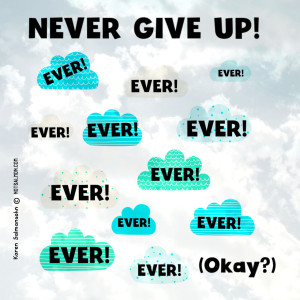 poster-cute-clouds-never-give-up.jpg-300x300