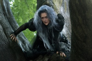 """A nasty witch (Meryl Streep) agrees to lift a curse on a young childless couple if her unusual requests are fulfilled in the delightful new release, """"Into the Woods."""" Photo by Peter Mountain, courtesy of Disney Enterprises, Inc."""