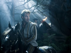 """An encounter with a charming prince (Chris Pine) delights a young woman seeking a better life for herself in the fairy tale-based musical, """"Into the Woods."""" Photo by Peter Mountain, courtesy of Disney Enterprises, Inc."""