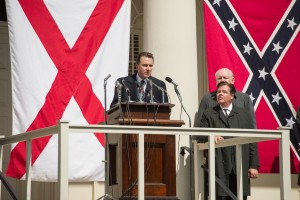 "In championing the cause of White segregationists, Alabama Gov. George Wallace (Tim Roth, center) helps perpetuate a system sought to be overturned by civil rights activists in the compelling new historical drama, ""Selma."" Photo by Curtis Baker, courtesy of Paramount Pictures."