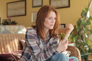 "Julianne Moore gives a career performance as Dr. Alice Howland, a linguistics professor afflicted with Early Onset Alzheimer's Disease, in the engaging new drama, ""Still Alice."" Photo by Linda Kallerus, courtesy of Sony Pictures Classics."