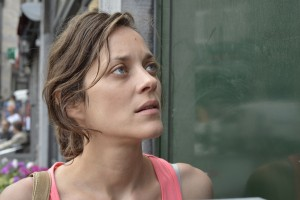 "Marion Cotillard gives an Oscar-nominated performance as Sandra Bya, a woman desperately seeking to hold on to her job, in ""Two Days, One Night."" Photo courtesy of IFC Films."