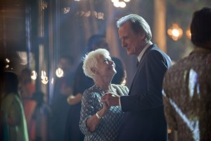 """The budding romance of retirees Evelyn Greenslade (Judi Dench, left) and Douglas Ainslie (Bill Nighy, right) attempts to blossom in an environment of hesitation in """"The Second Best Exotic Marigold Hotel."""" Photo courtesy of Fox Searchlight Pictures."""