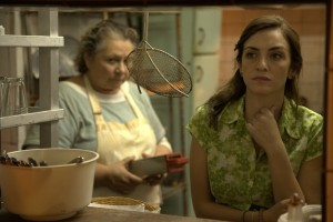 """Moza (Julieta Zylberberg, right), a waitress wronged by a loan shark, receives some dubious advice about how to exact revenge from a snarly cook (Rita Cortese, left) in """"Las Ratas"""" (""""The Rats""""), one of six stories of revenge featured in director Damián Szifron's wickedly funny anthology comedy, """"Wild Tales."""" Photo courtesy of Sony Pictures Classics."""