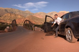 """An out-of-control road rage incident leaves well-to-do businessman Diego Iturralde (Leonardo Sbaraglia) scrambling for his life in """"El más fuerte"""" (""""The Strongest""""), one of six vignettes featured in the wickedly funny anthology comedy, """"Wild Tales."""" Photo courtesy of Sony Pictures Classics."""