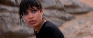 """Elaheh (Freida Pinto), daughter of a once-famous Iranian ballet star, provides coaching and guidance to an eager dance troupe in the fact-based biopic, """"Desert Dancer."""" Photo courtesy of Desert Dancer Production LTD."""