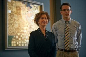 """Jewish refugee Maria Altmann (Helen Mirren, left) and struggling attorney Randy Schoenberg (Ryan Reynolds, right) make for an unlikely duo in taking on the Austrian government over a controversial art restitution issue in director Simon Curtis's engaging new drama, """"Woman in Gold."""" Photo courtesy of The Weinstein Company."""