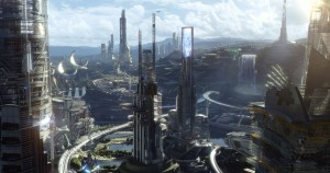 """Is this the world of the future? Or is it just an unrealistic dream? That's the question posed in the thrilling, thoughtful new action-adventure, """"Tomorrowland."""" Photo by Film Frame, courtesy of Walt Disney Pictures."""