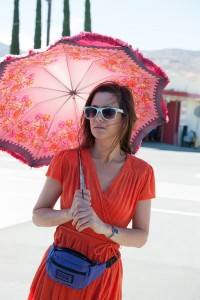 """Alice Klieg (Kristen Wiig), psychiatric patient-turned-TV talk show host, follows an unusual path to finding herself in the hilarious new dark comedy, """"Welcome to Me."""" Photo courtesy of Alchemy."""