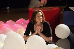 """Television director Dawn Hurley (Joan Cusack) expresses reservations about an unusual new proposal put to her infomercial production company in the hilarious new dark comedy, """"Welcome to Me."""" Photo courtesy of Alchemy."""