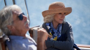 """Spry 70-something widow Carol Petersen (Blythe Danner, right) gets a new lease on life with a new romantic interest, wealthy retiree Bill Young (Sam Elliott, left), in the new comedy-drama, """"I'll See You in my Dreams."""" Photo courtesy of Bleecker Street Media."""