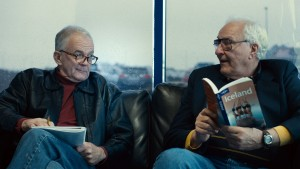 """Once-close friends Mitch (Earl Lynn Nelson, right) and Colin (Paul Eenhoorn, left) seek to revitalize their retirement by taking off on a road trip to Iceland in the delightful comedy, """"Land Ho!,"""" now available on Blu-ray disk and instant video streaming. Photo by Andrew Reed, courtesy of Sony Pictures Classics."""