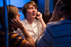 """As a consummate professional, Beach Boys founder Brian Wilson (Paul Dano, center) worked wonders in the recording studio with his band mates and other musicians, as depicted in director Bill Pohlad's new biopic, """"Love & Mercy."""" Photo by Francois Duhamel, courtesy of Roadside Attractions."""