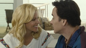 """After suffering from years of mental illness, an older Brian Wilson (John Cusack, right) found a compassionate angel in his new romantic interest, former model Melinda Ledbetter (Elizabeth Banks, left), in """"Love & Mercy."""" Photo by Francois Duhamel, courtesy of Roadside Attractions."""