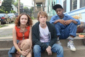 "Three young friends (from left), Rachel (Olivia Cooke), Greg (Thomas Mann) and Earl (RJ Cyler), face circumstances that force them to grow up faster than expected in the engaging new comedy-drama, ""Me and Earl and the Dying Girl."" Photo courtesy of Fox Searchlight Pictures."