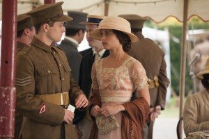 "Adoring sister Vera Brittain (Alicia Vikander, right) takes pride in the military service of her brother, Edward (Taron Egerton, left), in the new historical memoir, ""Testament of Youth."" Photo by Laurie Sparham, courtesy of Sony Pictures Classics."