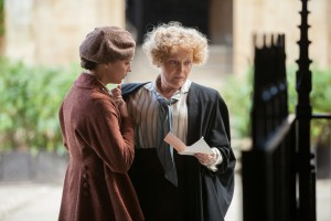 "Oxford freshman Vera Brittain (Alicia Vikander, left) begins her studies under the tutelage of her watchful mentor, Miss Lorimer (Miranda Richardson, right), in director James Kent's ""Testament of Youth."" Photo by Laurie Sparham, courtesy of Sony Pictures Classics."