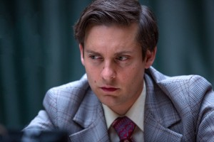 "Aspiring but troubled chess master Bobby Fischer (Tobey Maguire) seeks to fulfill his destiny as world champion in a high-stakes tournament with global geopolitical implications in director Edward Zwick's engaging new biopic, ""Pawn Sacrifice."" Photo by Takashi Seida, courtesy of Bleecker Street Media."
