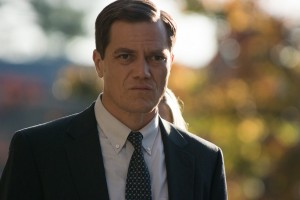 "Dane Wells (Michael Shannon), a hard-nosed police detective, reveals a strong, compassionate side in coming to the aid of his dying partner in director Peter Sollett's ""Freeheld."" Photo by Phil Caruso, courtesy of Summit Entertainment."