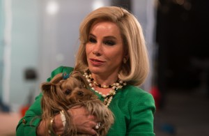 """Breaking into the world of the cable television home shopping business means dealing with high-profile spokespersons, like comedienne Joan Rivers (Melissa Rivers), as a budding entrepreneur and inventor discovers for herself in the new release, """"Joy."""" Photo by Merrie Weismiller, courtesy © Twentieth Century Fox Film Corporation."""