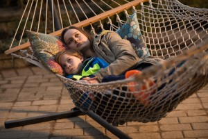 """Loving mother Joy Newsome (Brie Larson, right) and son Jack (Jason Tremblay, left) cope with an unconventional ordeal in """"Room."""" Photo by George Kraychyk, courtesy of A24 Films."""